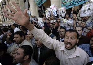 Mısır'da Siyonist Konsolosluğun Önünde Gösteri