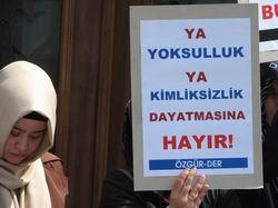 DPY-Bdeki Başörtüsü Yasağına Protesto