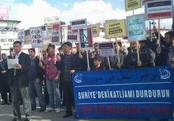 Sivasta Baas Diktasına Protesto