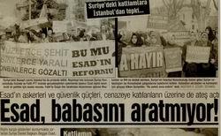 Suriyedeki Katliamlara İstanbuldan Tepki