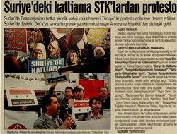 Suriyedeki Katliama STKlardan Protesto
