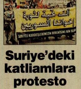 Suriyedeki Katliamlara Protesto