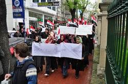 Müslüman Öğrencilerden Katliama Protesto