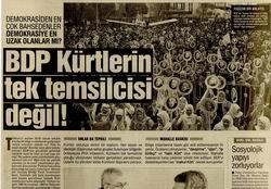 BDP Kürtlerin Tek Temsilcisi Değil!