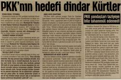 PKKnın Hedefi Dindar Kürtler