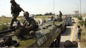 Suriye Ordusu Baniyasa Girdi