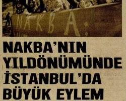 Nakbanın Yıldönümünde İstanbulda Büyük Eylem