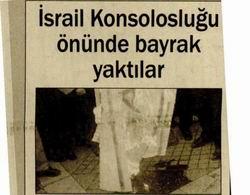 İsrail Konsolosluğu Önünde Bayrak Yaktılar