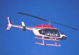 Polis Helikopteri Denize Düştü