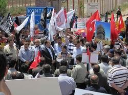 Sınırda Baas Rejimine Protesto