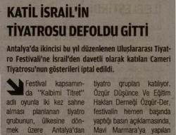 Katil İsrailin Tiyatrosu Defoldu Gitti