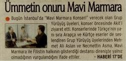 Ümmetin Onuru Mavi Marmara