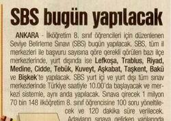 SBS Bugün Yapılacak