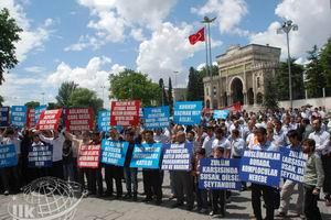 İhya-Der Kararı Protesto Edildi