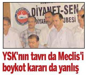 YSKnın Tavrı da Meclisi Boykot Kararı da Yanlış