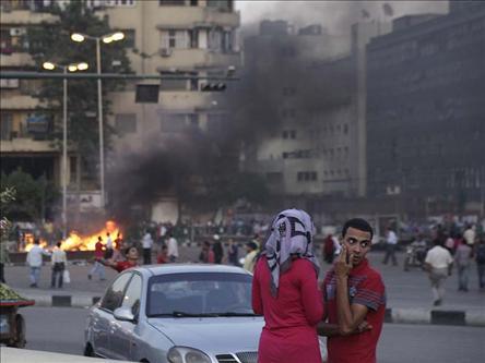 Tahrir Savaş Meydanı Gibi