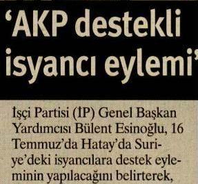 AKP Destekli İsyancı Eylemi