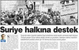 Suriye Halkına Destek