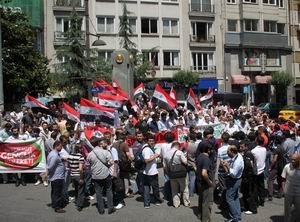 Suriyedeki Zulüm Teşvikiyede Protesto Edildi