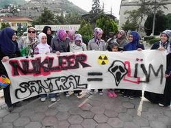 Tokat'ta Nükleer Protestosu