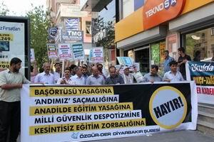 Diyarbakırda Irkçı ve Tek-Tipçi Eğitime Protesto