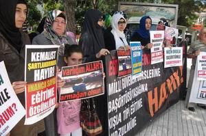 Çorum'da Okullardaki Ant Zulmüne Protesto