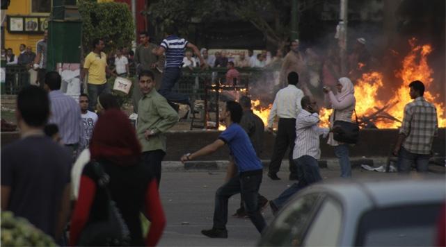 Mısırda Baltacılar Göstericilere Saldırdı