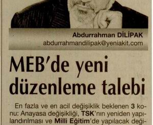 MEB'de yeni düzenleme talebi