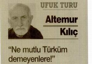 Ne mutlu Türküm demeyenlere!