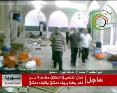 Suriyede Baas Rejiminden Camiye Operasyon