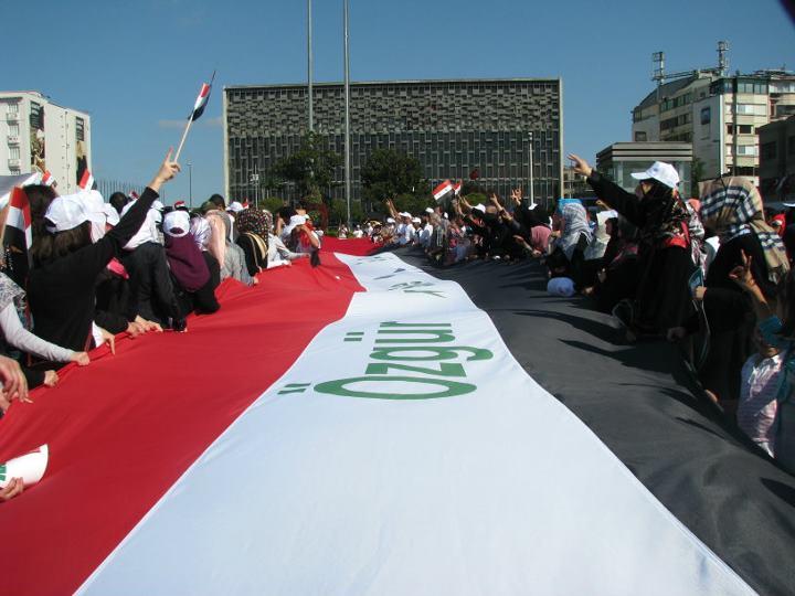 Taksim'de Suriye Halkına Destek Mitingi