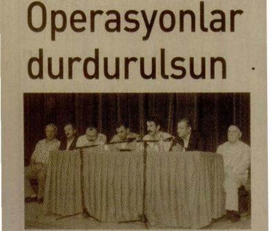 Operasyonlar Durdurulsun