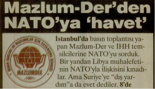 Mazlum-Derden NATOya Havet