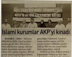 İslami Kurumlar AKPyi Kınadı