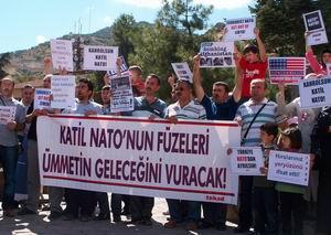 Tokat'ta NATO Füze Kalkanı Protesto Edildi