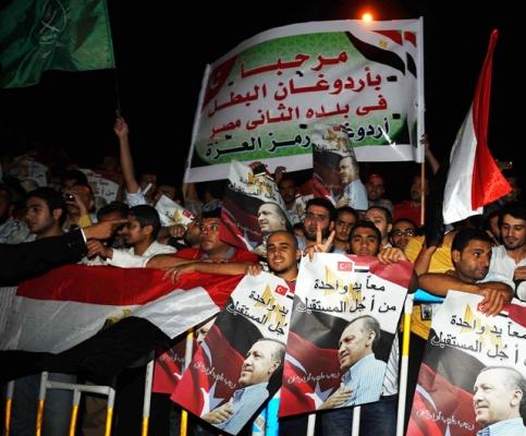 Mısırda Erdoğana Coşkulu Karşılama