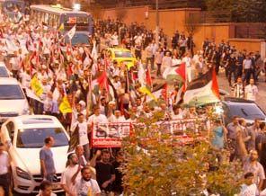 Siyonist Futbol Takımı Protesto Edildi (FOTO)