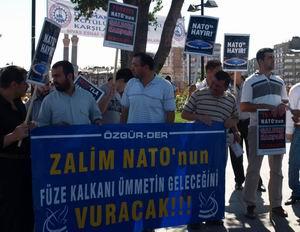 Sivasta NATO Füze Kalkanı Protesto Edildi