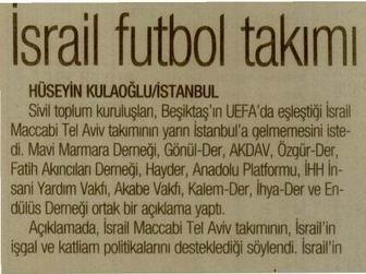 İsrail Futbol Takımı Protesto Edilecek