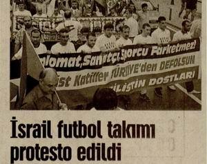 İsrail Futbol Takımı Protesto Edildi