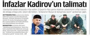 İnfazlar Kadirovun Talimatı