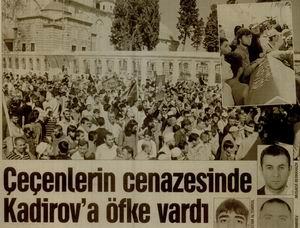 Çeçenlerin Cenazesinde Kadirova Öfke Vardı