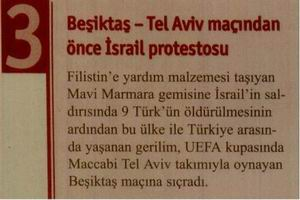 Beşiktaş - Tel Aviv Maçından Önce İsrail Protestosu