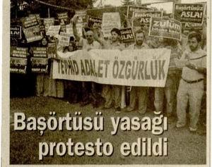 Başörtüsü Yasağı Protesto Edildi