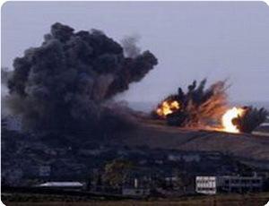Siyonistler Gazze'yi Bombaladı: 1 Şehit