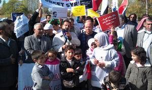 Ankara'da Suriye Muhalefetine Destek Eylemi