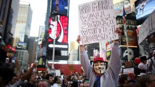 New Yorkta Binlerin Kapitalizm Protestosu