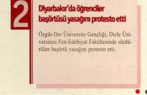 Diyarbakırda Öğrenciler Başörtüsü Yasağını Protesto Etti