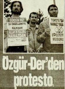 Özgür Der'den Protesto