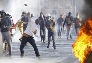 Wall Street Eylemcileri İsrail Bayrağı Yaktı